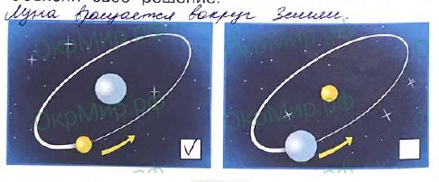 Рабочая тетрадь (Плешаков) 2 часть - 4. Почему и зачем?. Почему Луна бывает разной?, ответ 1