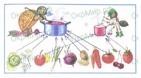 Рабочая тетрадь (Плешаков) 2 часть - 4. Почему и зачем?. Почему полезно есть овощи и фрукты?, ответ 2