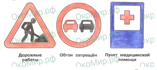 Рабочая тетрадь (Плешаков) 2 часть - 4. Наша безопасность. Дорожные знаки, ответ 3