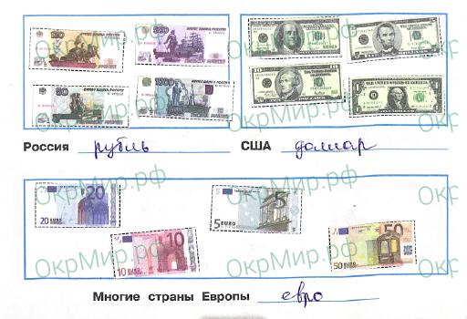 Рабочая тетрадь (Плешаков) 2 часть - 5. Чему учит экономика. Что такое деньги, ответ 2