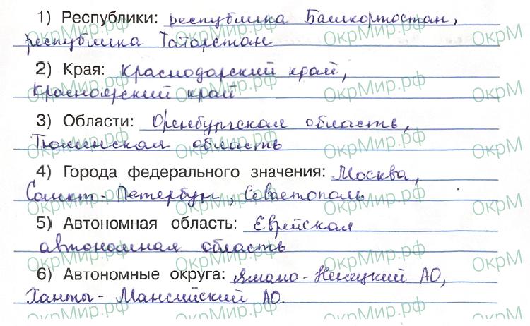 Рабочая тетрадь (Плешаков) 1 часть - 1. Как устроен мир. Российская Федерация, ответ 1