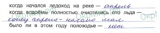 Дневник (Плешаков) - . Наблюдения в природе весной, ответ 2