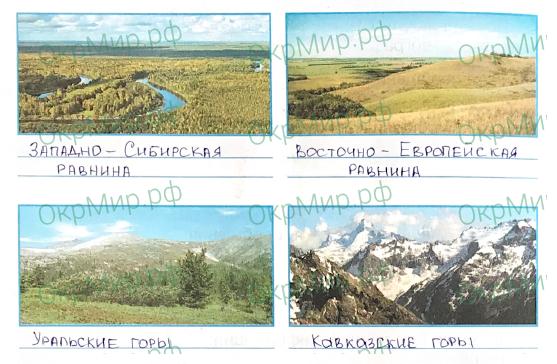 Рабочая тетрадь (Плешаков, Крючкова) 1 часть - 2. Природа России. Равнины и горы России, ответ 3