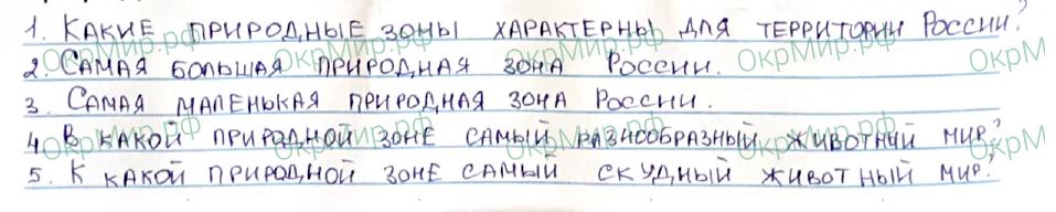 Рабочая тетрадь (Плешаков, Крючкова) 1 часть - 2. Природа России. Природные зоны России, ответ 5
