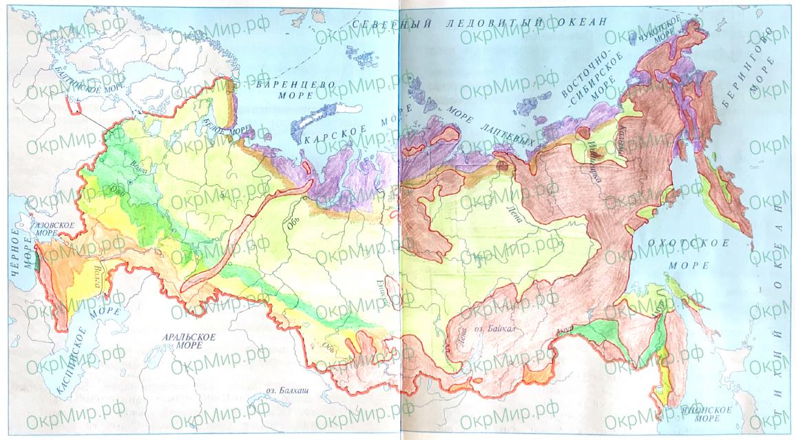Рабочая тетрадь (Плешаков, Крючкова) 1 часть - 2. Природа России. Природные зоны России, ответ 1