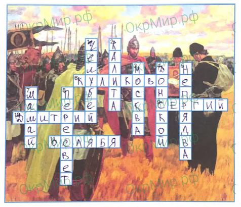 Рабочая тетрадь (Плешаков, Крючкова) 2 часть - 5. Страницы истории России. Куликовская битва, ответ 8