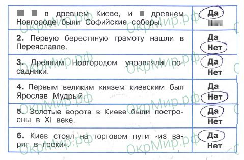 Рабочая тетрадь (Плешаков, Крючкова) 2 часть - 5. Страницы истории России. Страна городов, ответ 3
