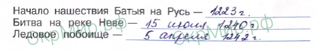 Рабочая тетрадь (Плешаков, Крючкова) 2 часть - 5. Страницы истории России. Трудные времена на Русской земле, ответ 4